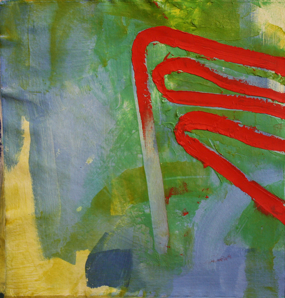 "SOT #5 - Ribbon   17"" x 17""     Oil & Acrylic on canvas"