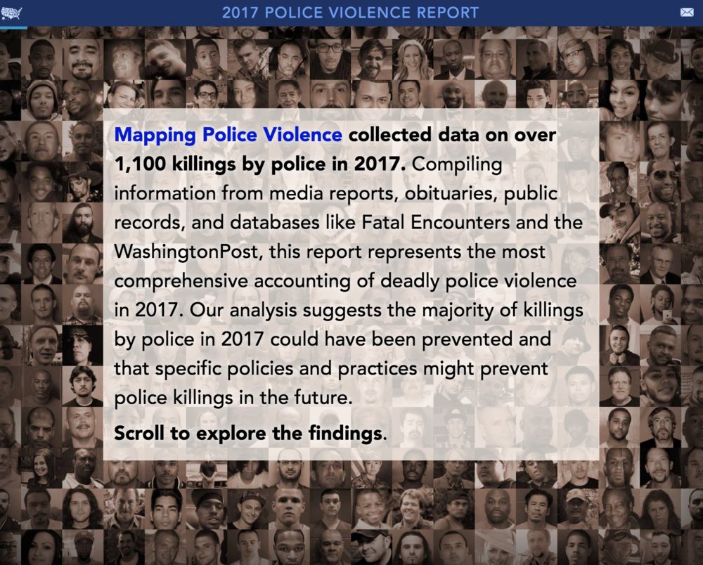 2017 Year-End Police Violence Report - A comprehensive analysis of over 1,100 killings by police in 2017.