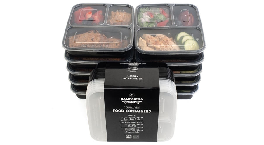 3 Compartment Food Containers California Home Goods