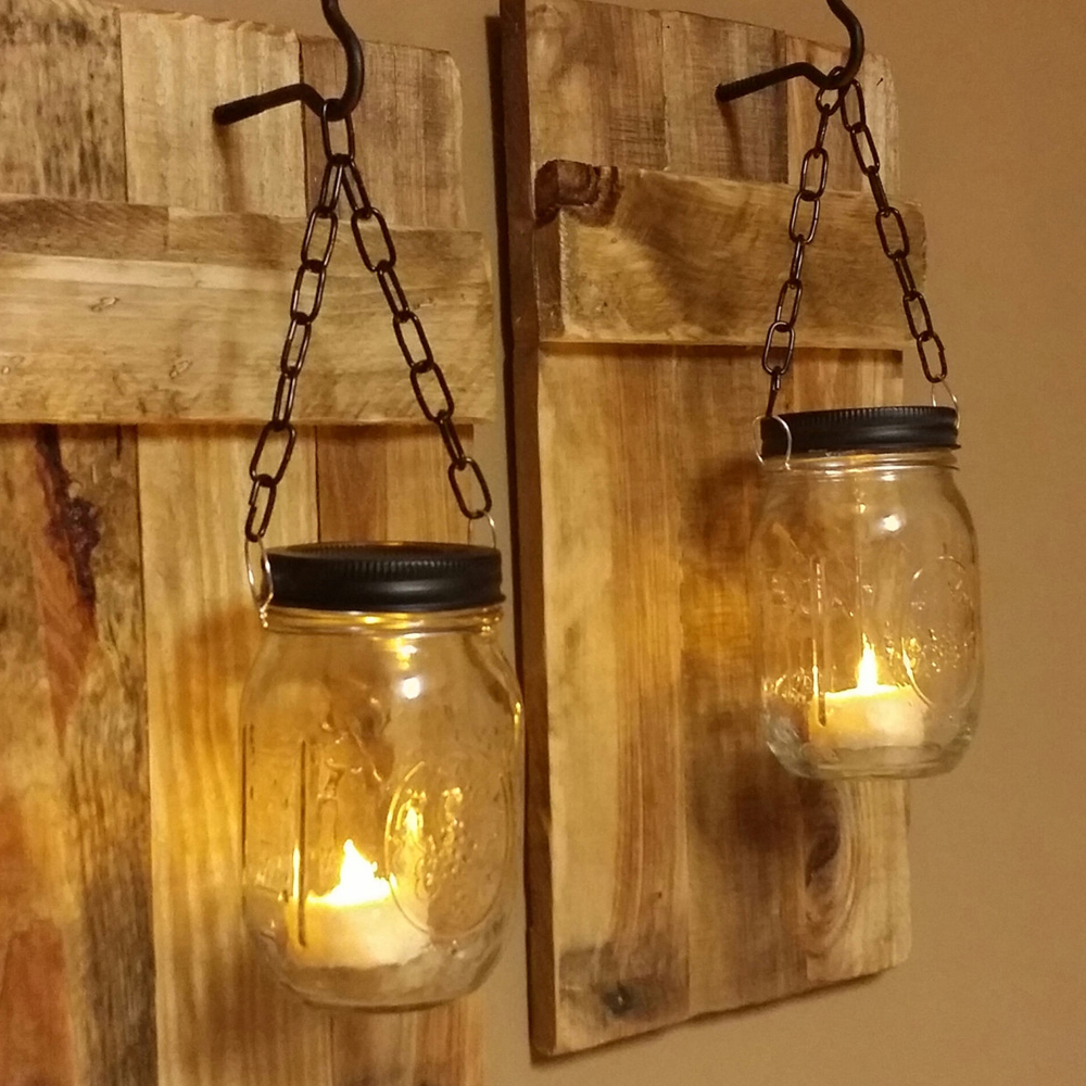 Hanging Candle Holders - Beach vibe party? These candle holders will surely get that chill. Hang mason jars, either with nylon string/wire. Once ready, set up candle holders. Put sand then candles. Light up once hang securely.