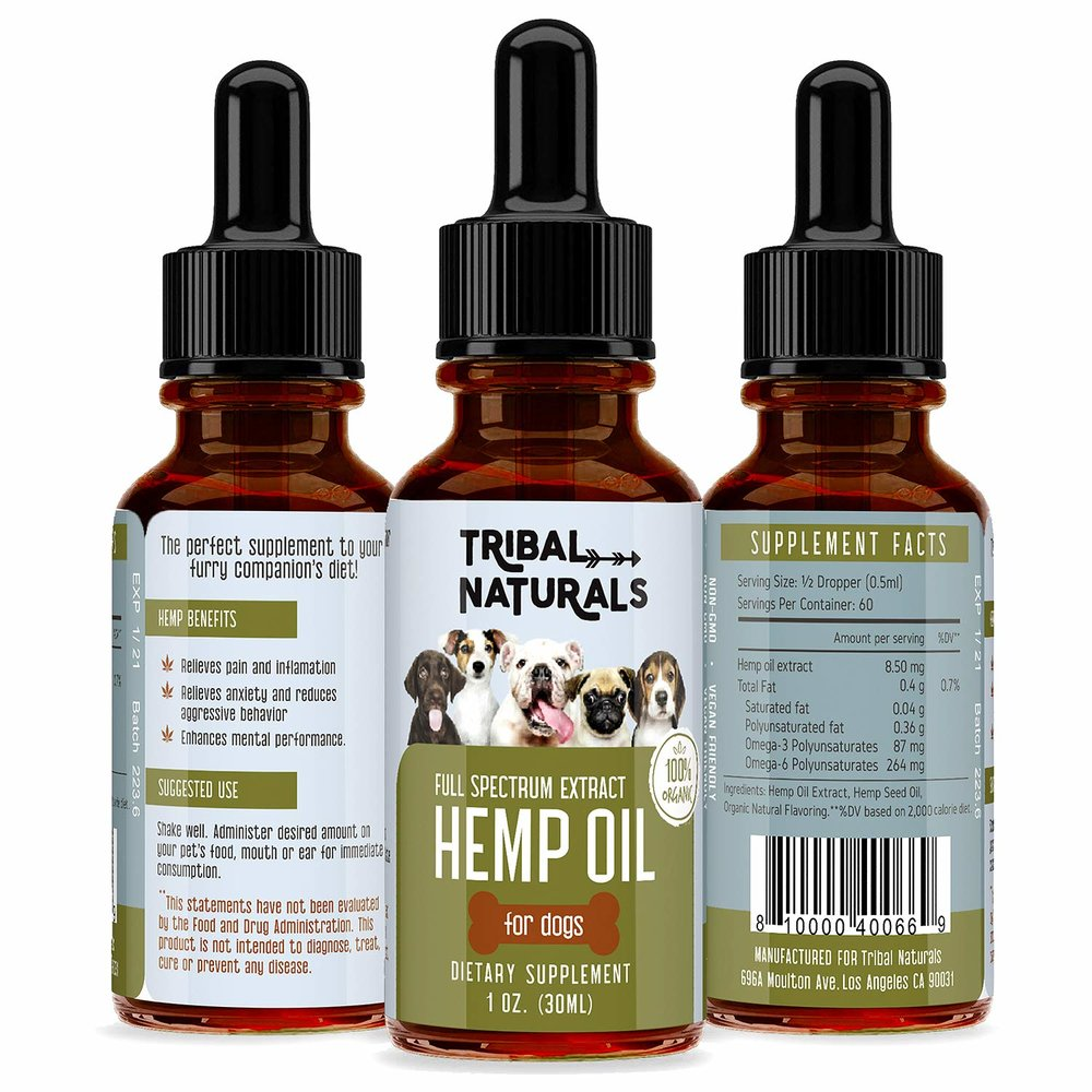 Here at Tribal Naturals, we strive to provide you with products that help make your lives easier, happier, and more worthwhile. And because we believe that building a happy home is of utmost importance, that means we should include furry little members of your family as well. That's why we created the Tribal Naturals Organic Pet Dog Hemp Oil.