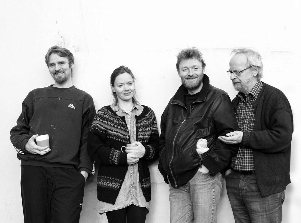 Hjálmar Dam, Kristina Sørensen Ougaard, Hans Tórgarð og Eyðun Johannessen