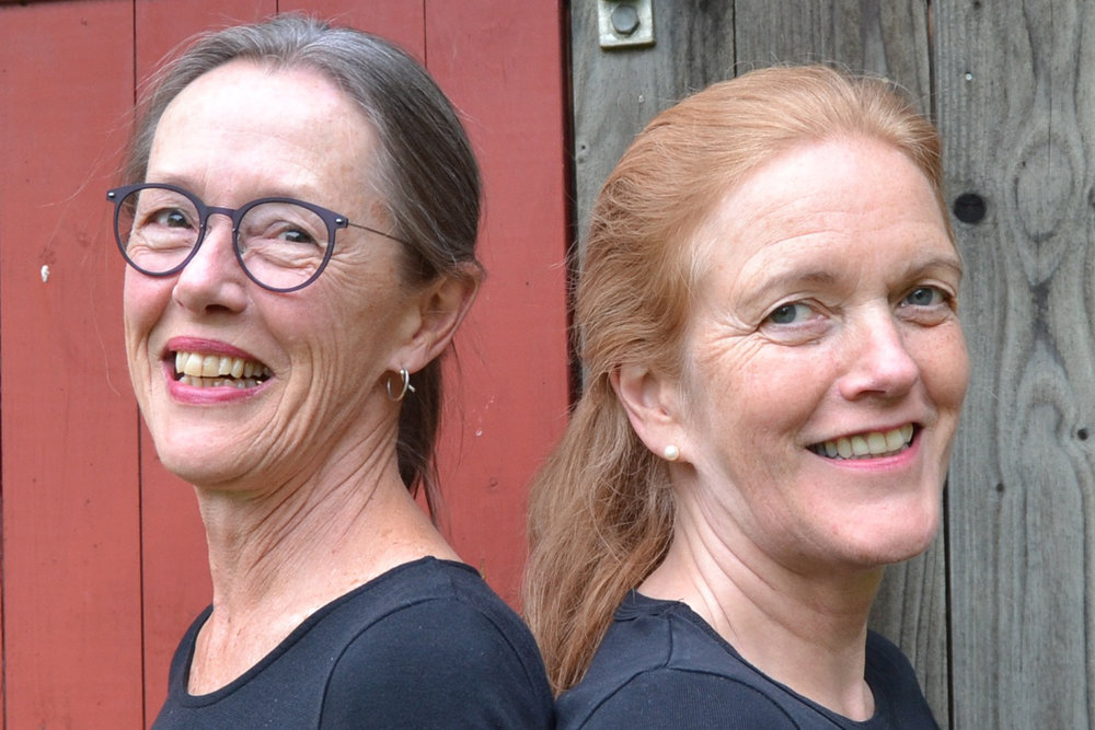 Dorte Futtrup (v.m) og Maria Arnadóttir eru Nordisk fortællerduo