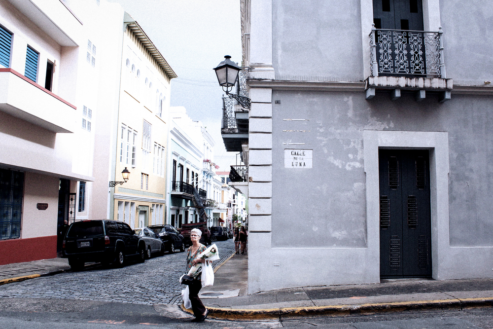 A Lady in Old San Juan