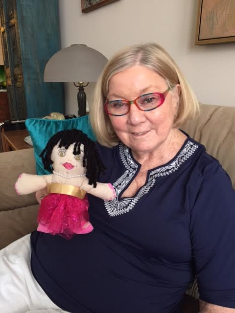 Our friend Betty in NY sending off her doll