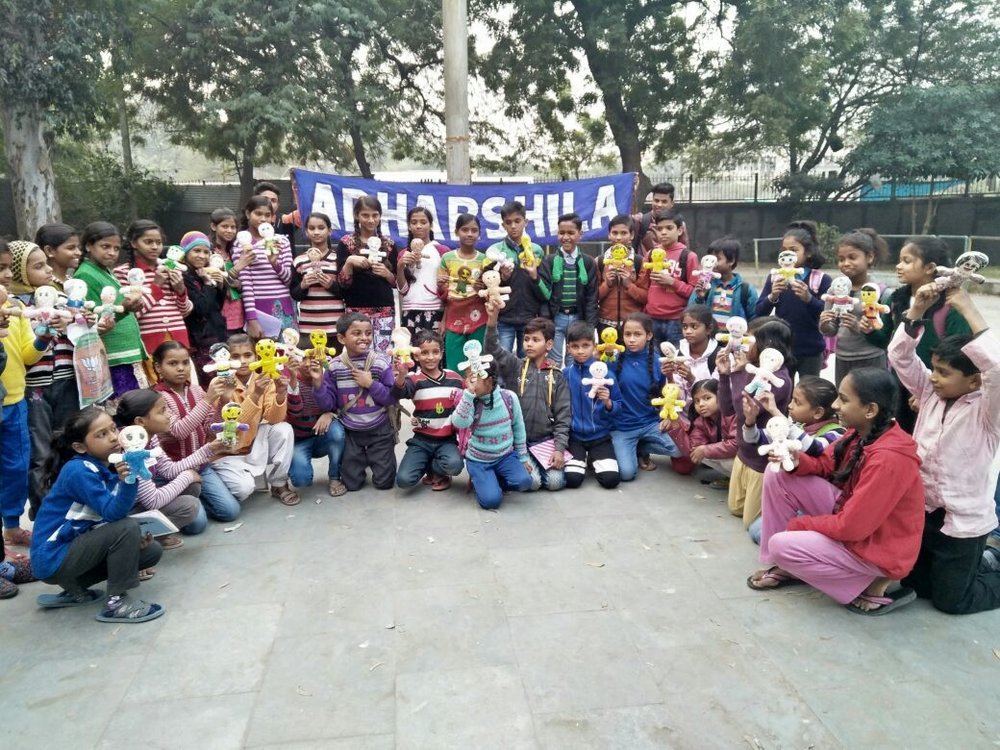 Children from  Adharshila Trust  in India have received the warmth from MSTERIO dolls. Adharshila is a NPO works to build foundations for strong and self-reliant communities at the grassroots level with dedication and sincerity. More photo on:  https://www.msterio.org/events-2/