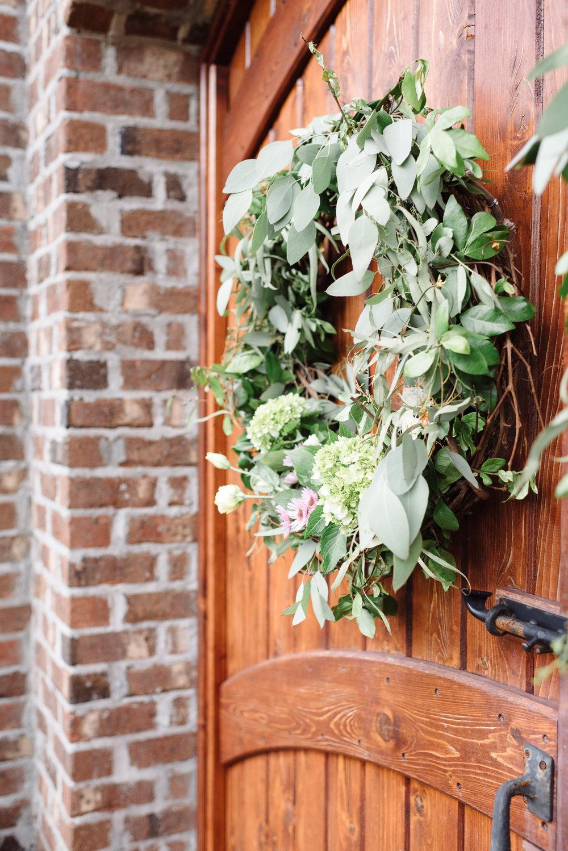 Bowerbird Flowers - church wreath - spring wedding