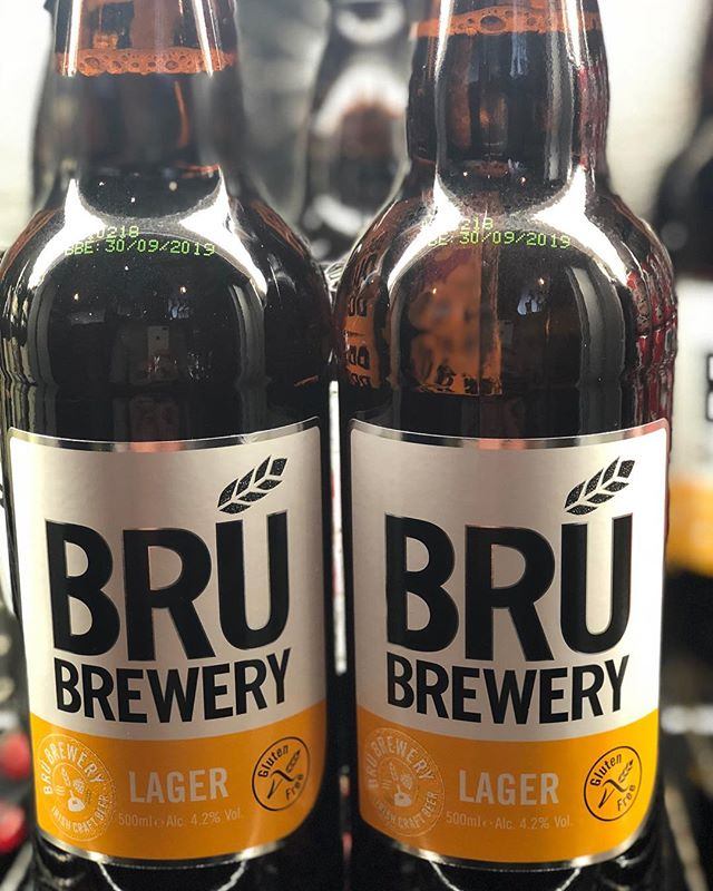 Bru brewery, gluten free beer available at the bar #gluten-free #beer #bar #bottledbeers #tryit #horatiotodds #todds #ballyhackamore #belfast