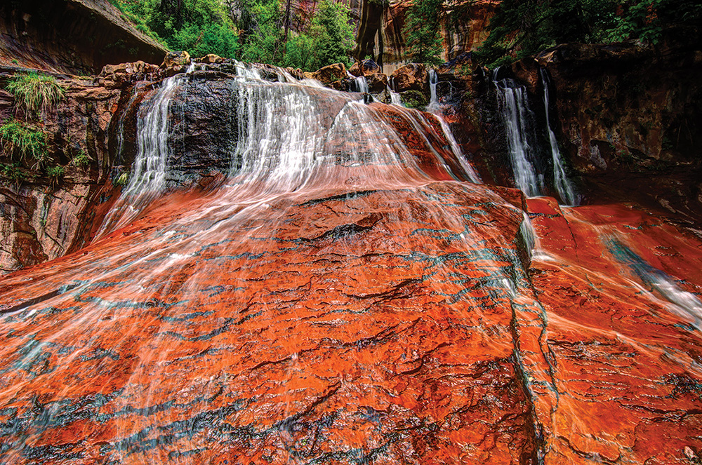 Left Fork Red Waterfall
