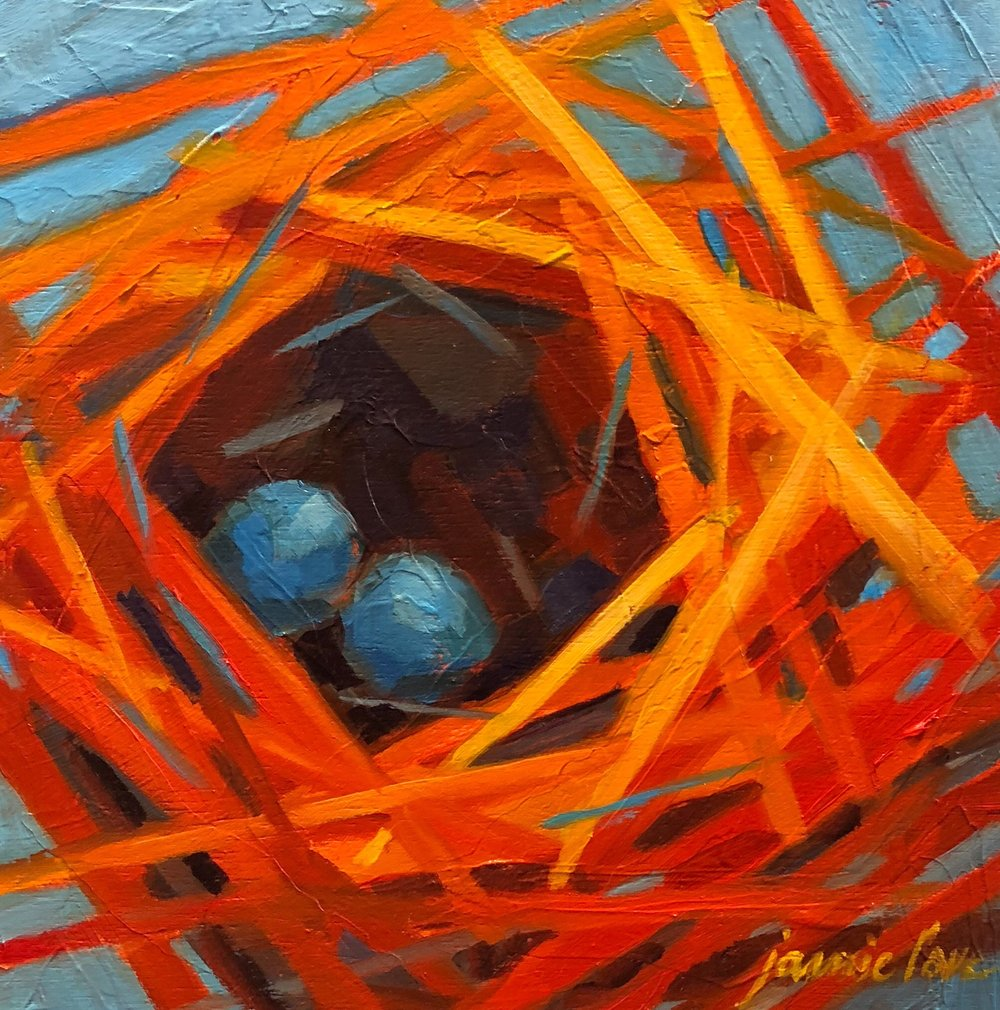 Abstract Orange Nest (SOLD)