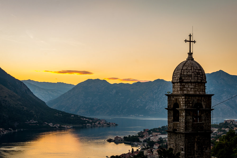 Sunset from the old fortress, Kotor.