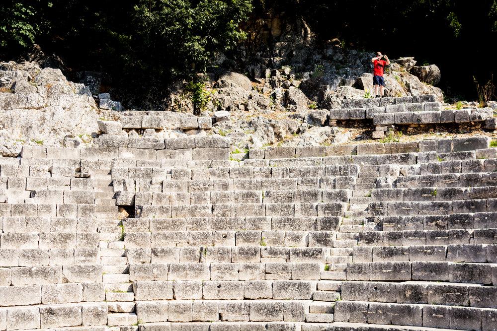 Amphitheatre in Butrint, Albania.