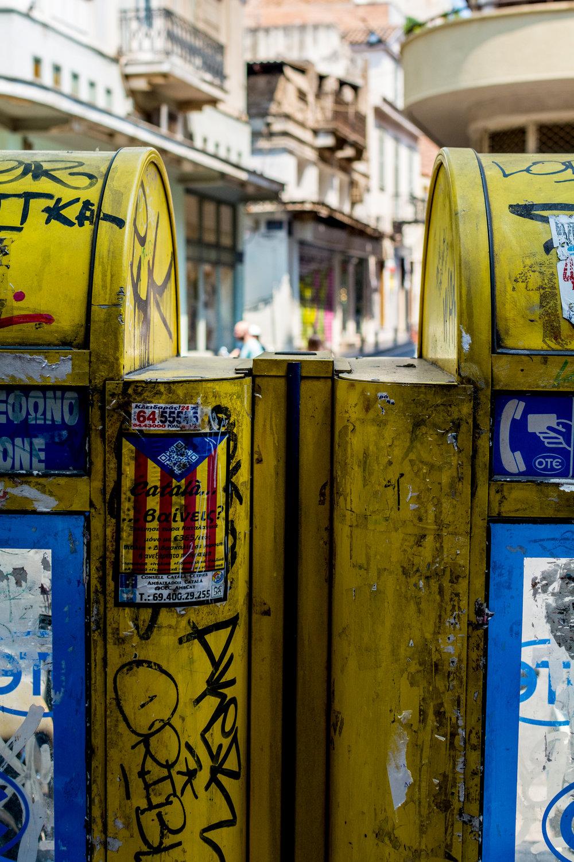 Mailboxes in Monastiraki neighbourhood.