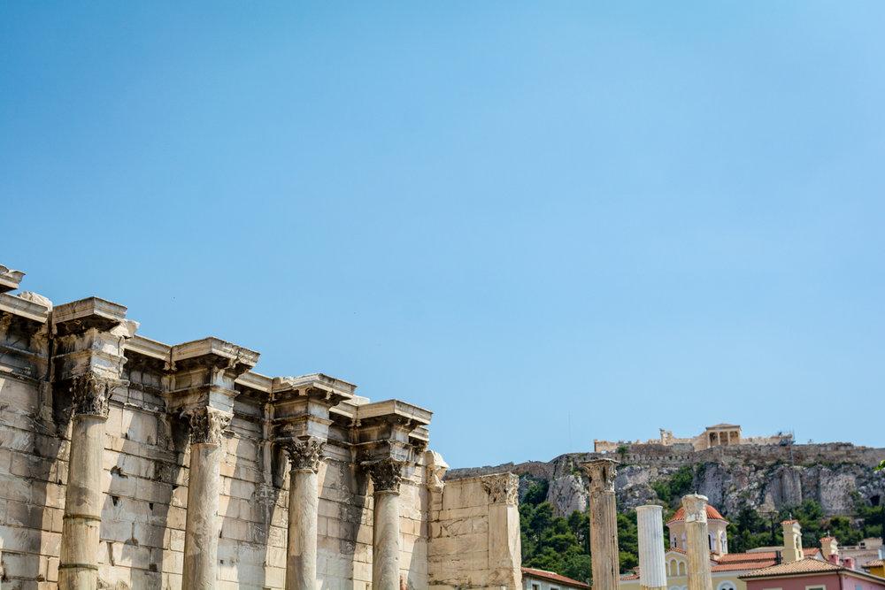 Acropolis as seen from Monastiraki square.