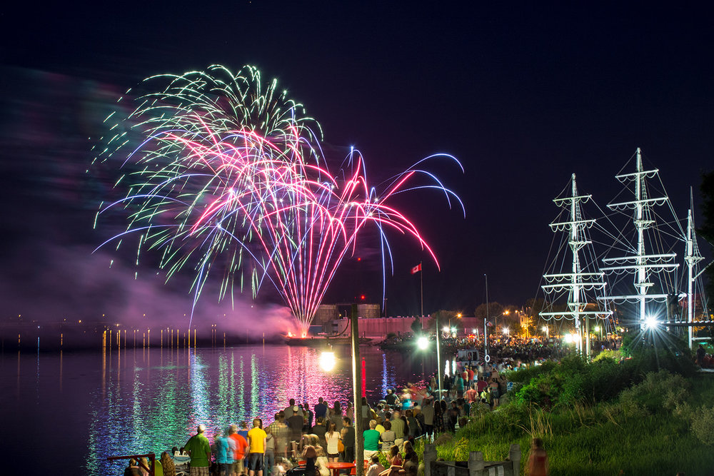 Canada Day fireworks in downtown Miramichi.  Buy Print