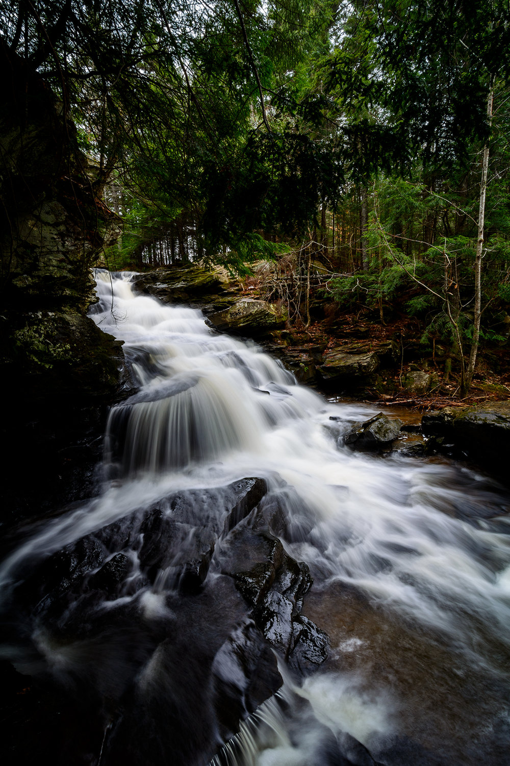 Garden Brook Falls outside Fredericton.  Buy Print