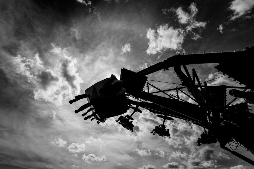 A ride at the Kings County Fair in Gagetown, New Brunswick.  Buy Print