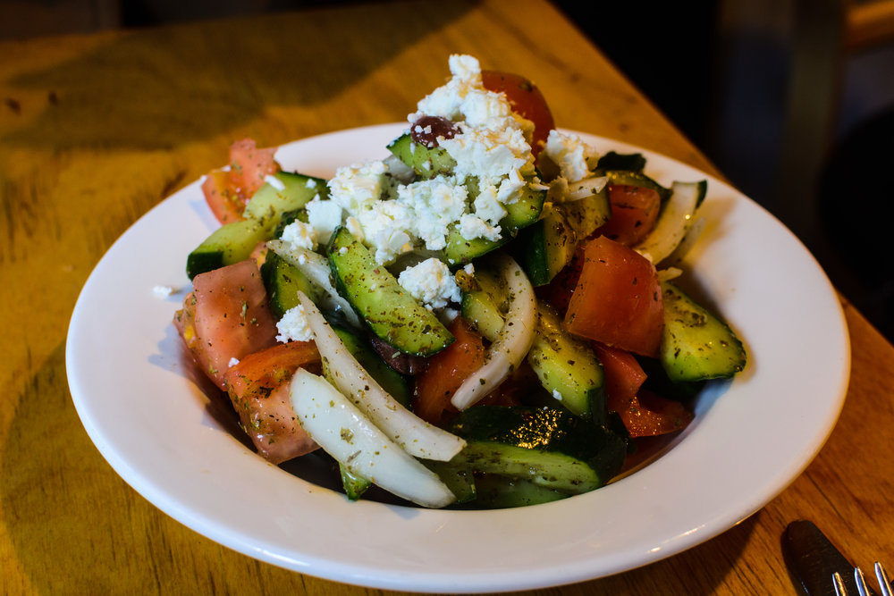 Greek salad, found at El Grekos in Itaewon.