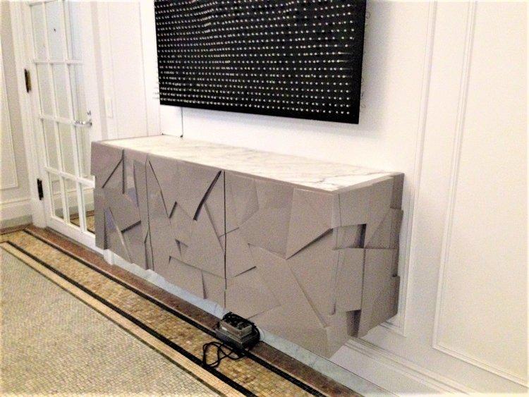 Wall Credenza Upper West Side Wadaly Design Build Llc