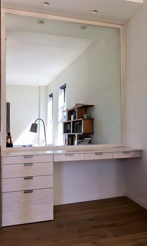 Desk And Mirror West Village Wadaly Design Build Llc