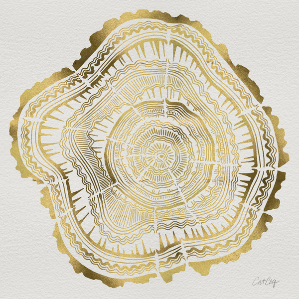 Gold Tree Rings available  here .