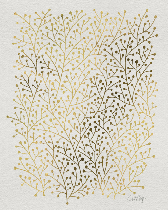 Gold Berry Branches available  here .