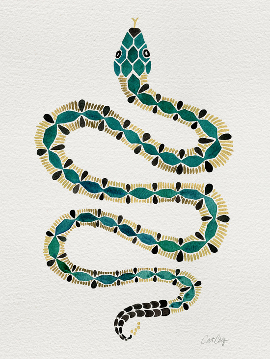 Emerald & Gold Serpent available  here .