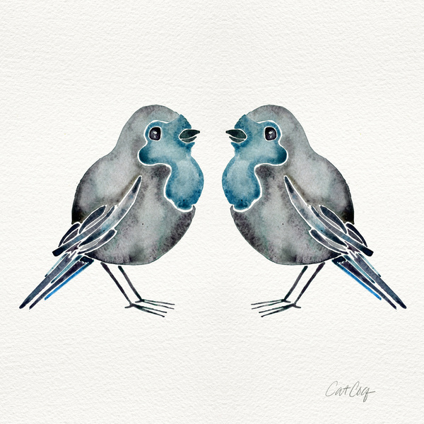 Little Blue Birds available  here .
