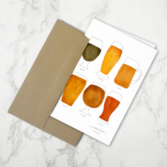Beer Collection   •  stationery card + kraft envelope $4.50