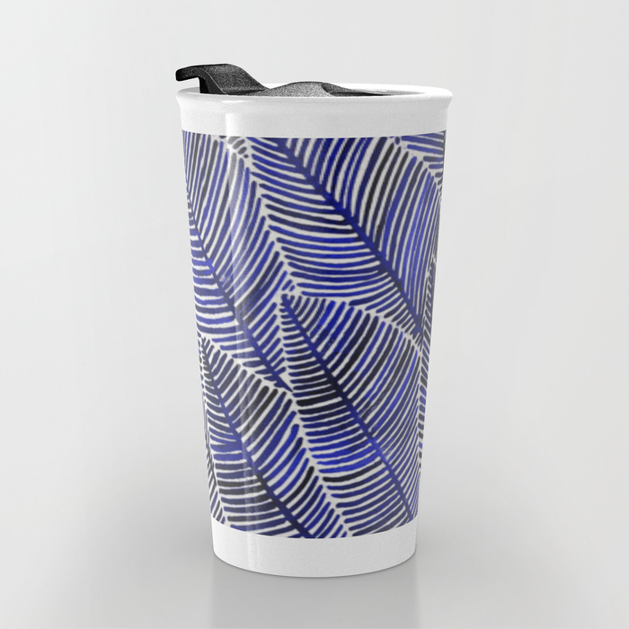 Tropical Navy  •  12 oz travel mug $24