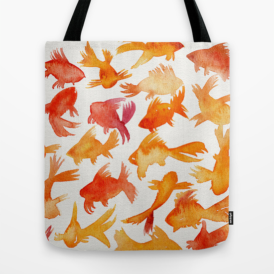 Goldfish  •  tote bag $22