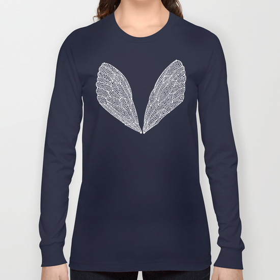 White Cicada Wings  •  long sleeve t-shirt $28