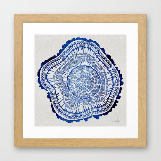 Growth Rings – Navy  •  framed art print $39–$135