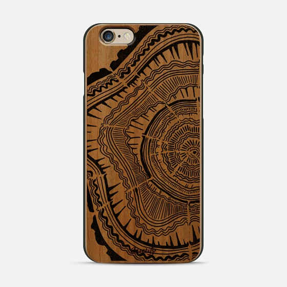 Black Tree Rings  •  wooden phone case $45