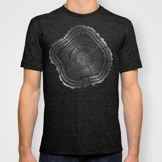 Growth Rings – Silver  •  mens fitted tee $22