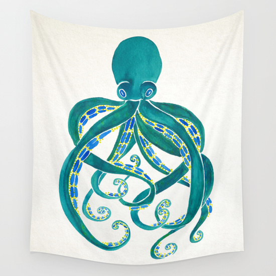 Octopus  • wall tapestry $39–$79
