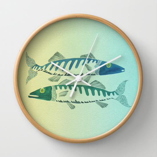 Fish Duo  •  wall clock $30