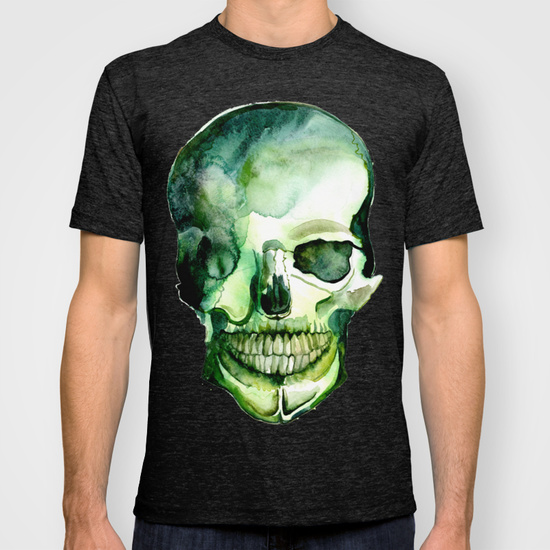Painted Skull #1  •  mens fitted tee $32
