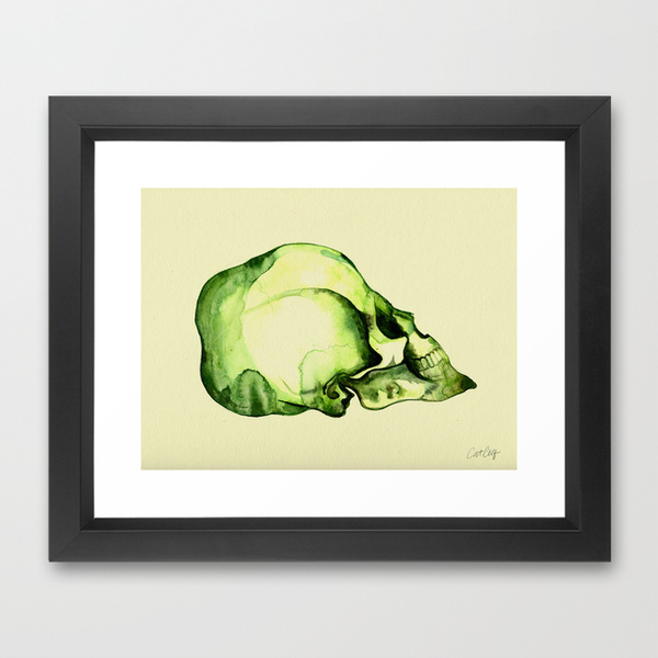 Painted Skull #2  •  framed art print $35–$135