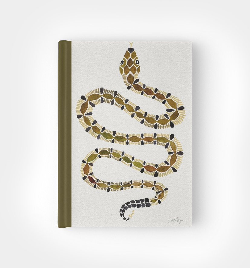 Olive Serpent  • hardcover journal $22