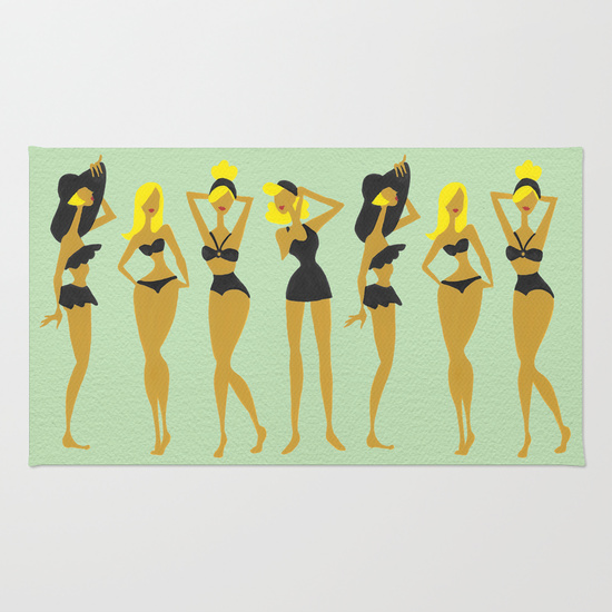 Blonde Bombshells • rug $29–$79