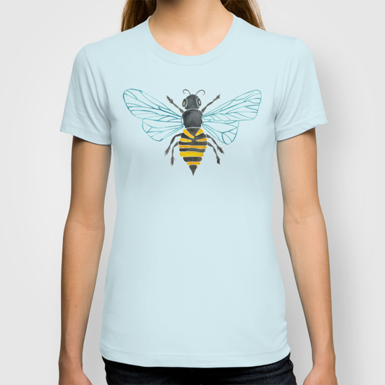 Honey Bee  •  women's fitted tee $22