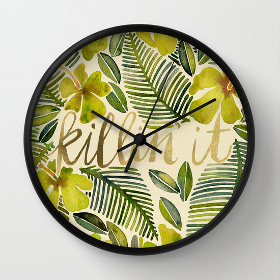 Killin' It – Tropical Yellow  •  wall clock $30