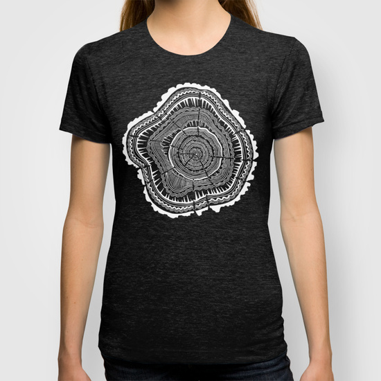 Growth Rings 65 Years  •  women's fitted tee $22