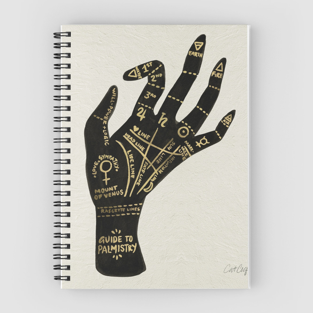 Palmistry  •  spiral notebook $13