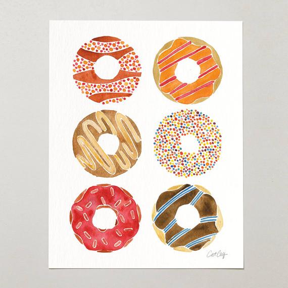 Half Dozen Donuts • art print $15