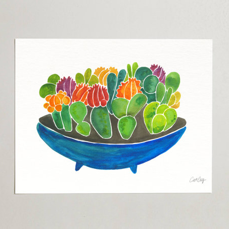 Succulents Watercolor  •  art print $15