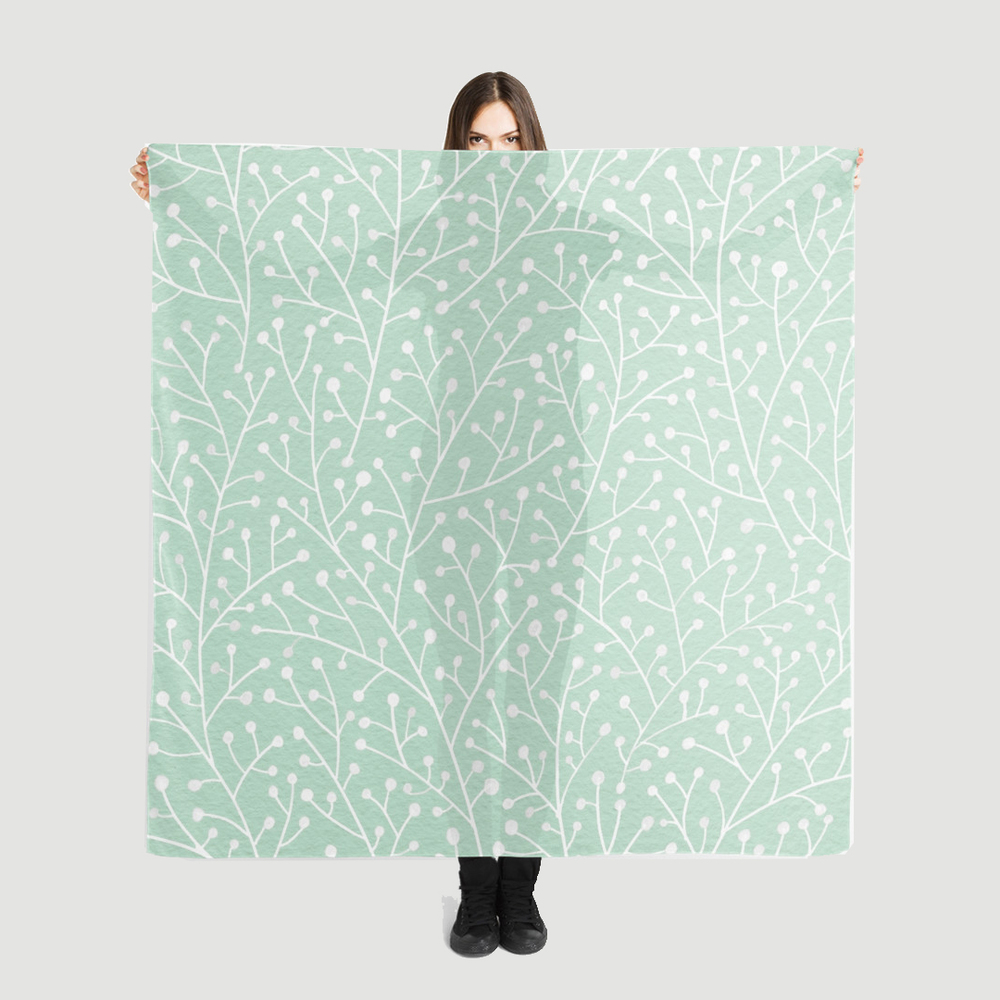 Mint Berry Branches  •  scarf $35