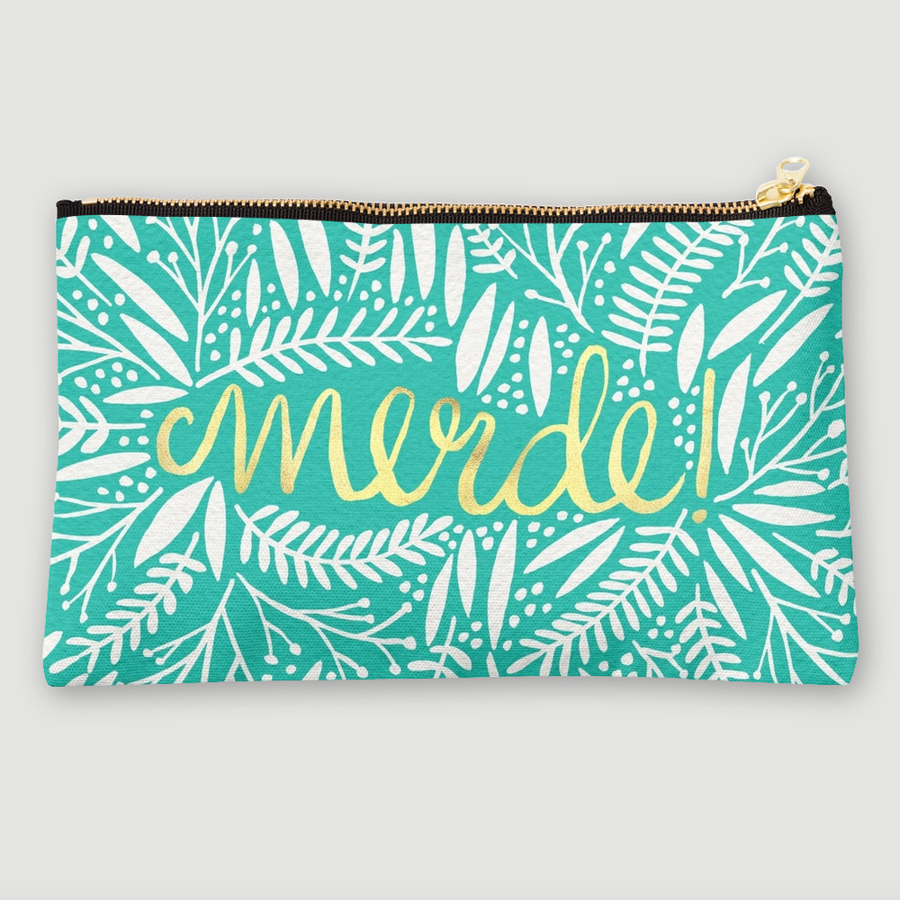 Shit! Gold & Turquoise   •  studio pouch $24