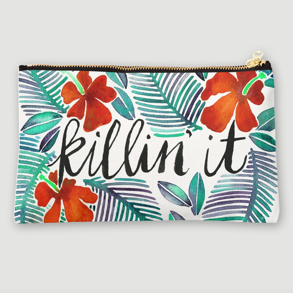 Killin' It – Tropical Red  •  studio pouch $24